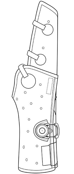 unterarmschienen mit daumen einschluss
